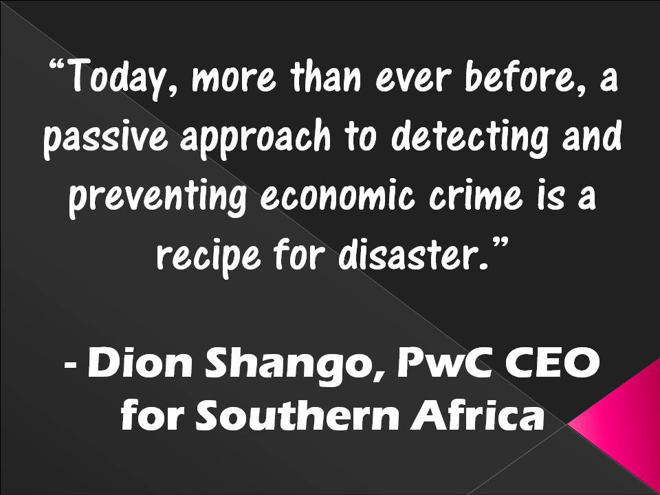 Detecting and Preventing Economic Crime