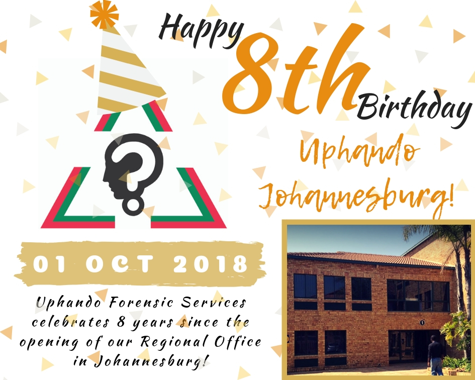 HAPPY BIRTHDAY UPHANDO JOHANNESBURG - 8YEARS